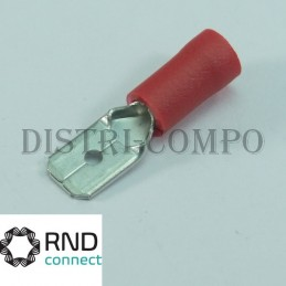 Cosse plate male 6.3x0.8mm...