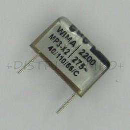 Condensateur MP3-X2 2.2nF...