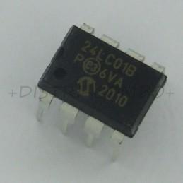 24LC01B/P EEPROM I2C 1Kbit...
